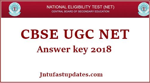 CBSE UGC NET Answer Key 2018