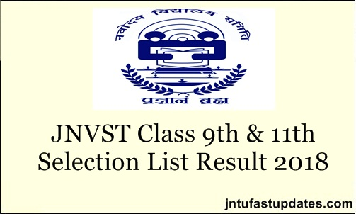 JNVST Class 9th & 11th Result 2018