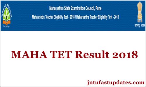 MAHA TET Results 2018