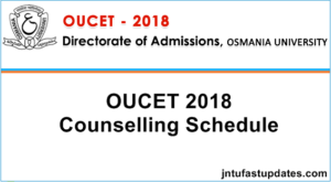 OUCET 2nd Phase Counselling Dates 2018 Rank Wise For Certificate Verification @ cv.ouadmissions.com