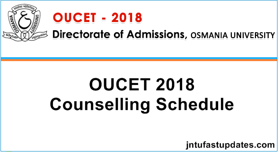 OUCET 1st Phase Counselling Dates 2018