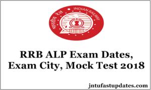 RRB ALP Exam City, Test Date & Time 2018 – Mock Test Link Released