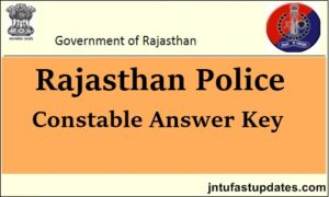 Rajasthan Police Constable Answer key