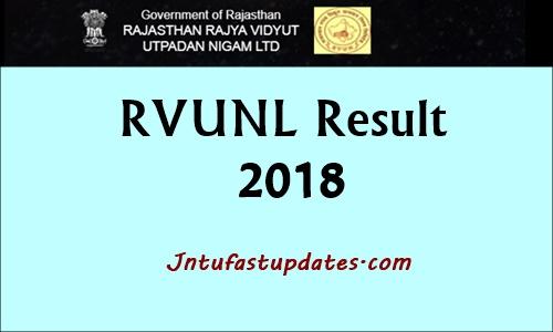 RVUNL Result 2018
