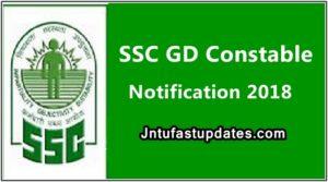SSC GD Constable Recruitment 2018 Apply Online
