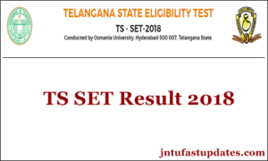 TS SET Results 2018 Released – Score Card, Cutoff Marks, Selected Candidates/ Merit List @ telanganaset.org