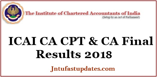 ICAI CA CPT Results 2018 & CA Final Results June