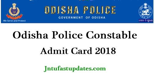 Odisha Police Constable Admit Card 2018