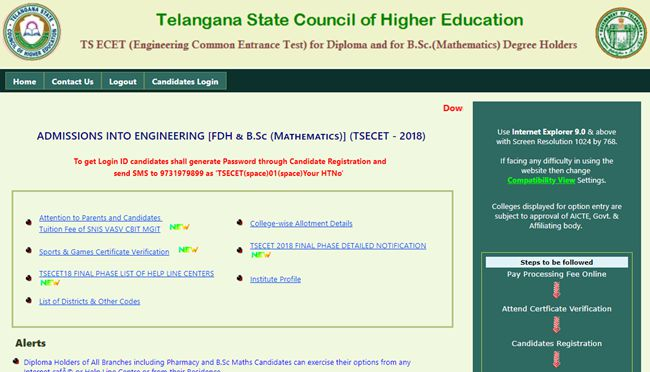 ts ecet counselling 2018