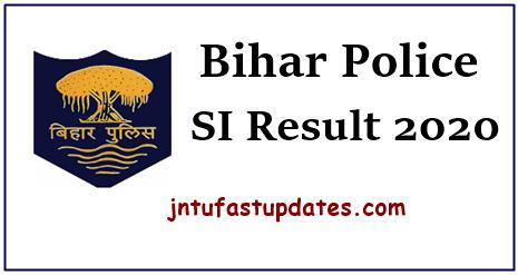 Bihar Police SI Prelims Result 2020