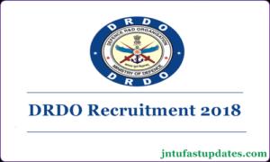 DRDO Recruitment 2018 – Apply Online For 494 Senior Technical Assistant 'B' vacancies