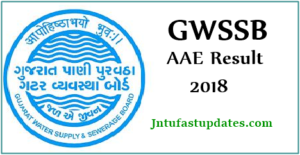 GWSSB AAE Results 2018 – Additional Assistant Engineer Cutoff Marks & Merit List @ gwssb.gujarat.gov.in
