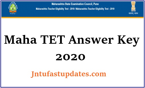 maharashtra tet answer key 2020