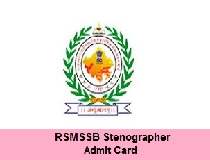 RSMSSB Stenographer Admit Card 2018