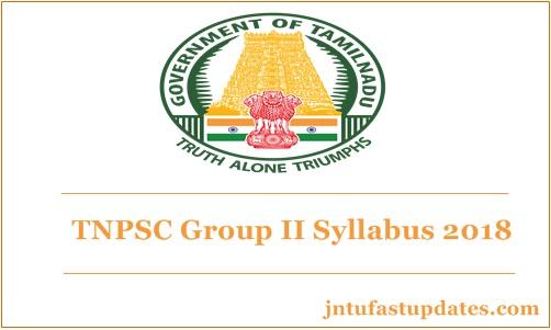 TNPSC Group 2 Syllabus 2018 PDF Download For Prelims & Main
