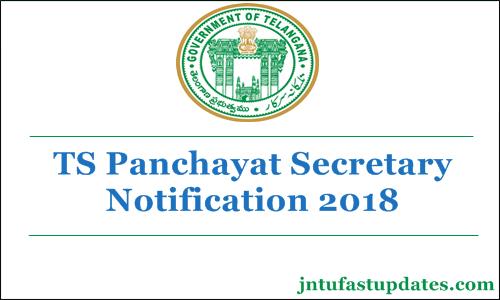 TS Panchayat Secretary Notification 2018