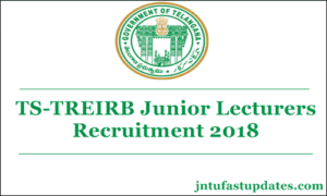 TS Gurukulam Notification 2018 for 281 Junior Lecturer Posts Apply Online Registration (Application Form)
