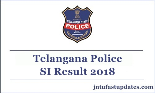 TS police SI Result 2018