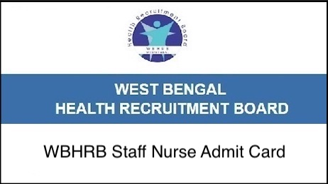 WBHRB Staff Nurse Admit Card 2018