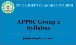 APPSC Group 2 Syllabus 2018