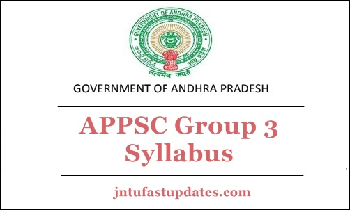 APPSC Group 3 Syllabus 2018