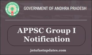 APPSC Group I Notification 2018