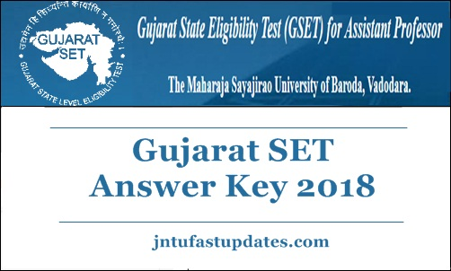 Gujarat SET Answer Key 2018