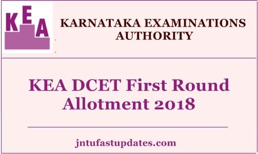 Karnataka Dcet First Round Allotment 2018 Kea Diploma