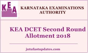 Karnataka DCET Second Round Allotment Results 2018 Released – KEA Diploma CET Final Round Result