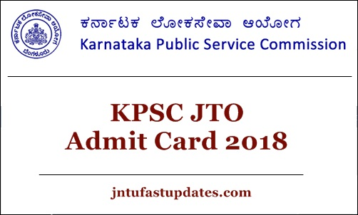 KPSC JTO hall ticket 2018