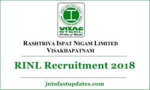 RINL JT Recruitment 2018