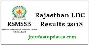 RSMSSB LDC Result 2018