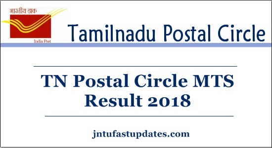 TN Postal Circle MTS Result 2018