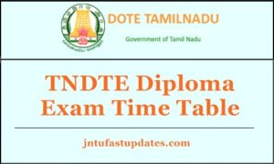 TNDTE Diploma Exam Time Table 2018