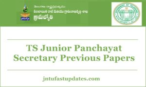 TS Panchayat Secretary Previous Question Papers – Solved Model Papers with Answer Keys