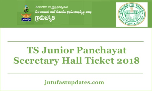 TS Junior Panchayat Secretary Hall Ticket 2018