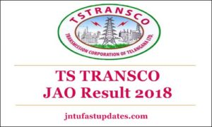 TSTRANSCO JAO Results 2018 Released – Junior Accounts Officer Cut off Marks & Merit List Download