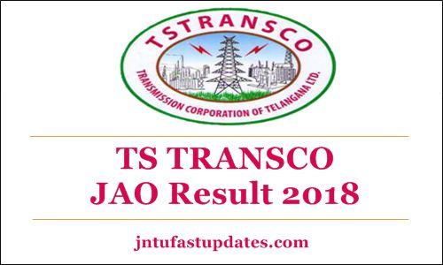 TS TRANSCO JAO Result 2018