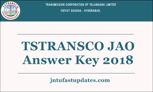 TSTRANSCO JAO Answer Key 2018