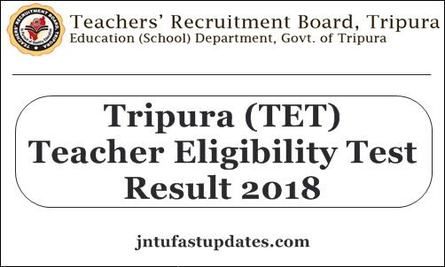 Tripura TET Result 2018