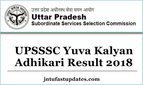 UPSSSC Yuva Kalyan Adhikari Result 2018