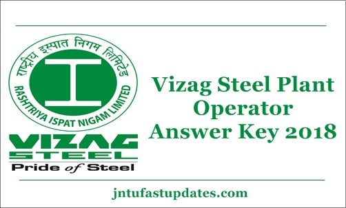 Vizag Steel Plant Operator Answer Key 2018