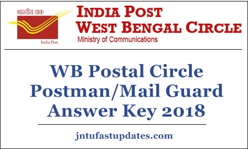 WB Postal Circle Postman Mail Guard Answer Key 2018