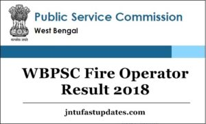 WBPSC Fire Operator Result 2018