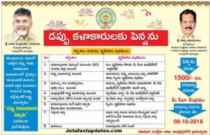 AP Govt Dappu Artists Pension Scheme