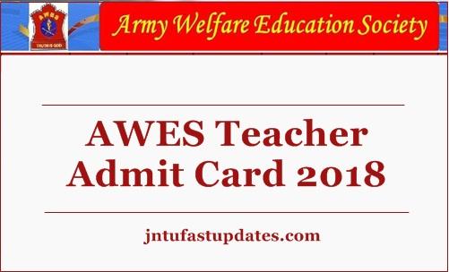 AWES Teacher Admit Card 2018