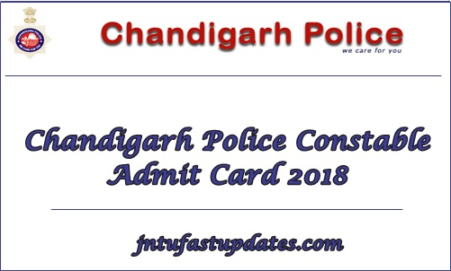 Chandigarh Police Constable Admit Card 2018