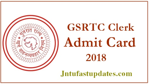 GSRTC Clerk Hall Ticket 2018