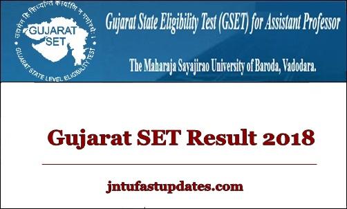 Gujarat SET Results 2018