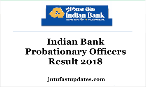 Indian Bank PO Result 2018